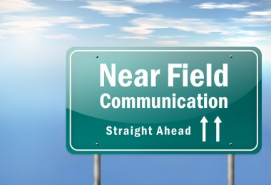 Highway Signpost Near Field Communication