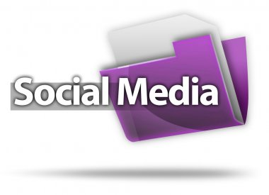 3D Style Folder Icon Social Media