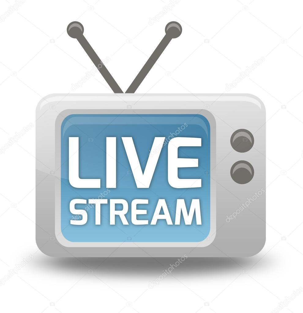 cartoon style tv icon live stream stock photo mindscanner 41738099
