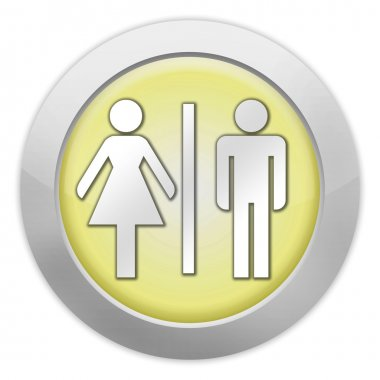 Icon, Button, Pictogram Restrooms