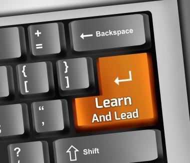 Keyboard Illustration Learn And Lead