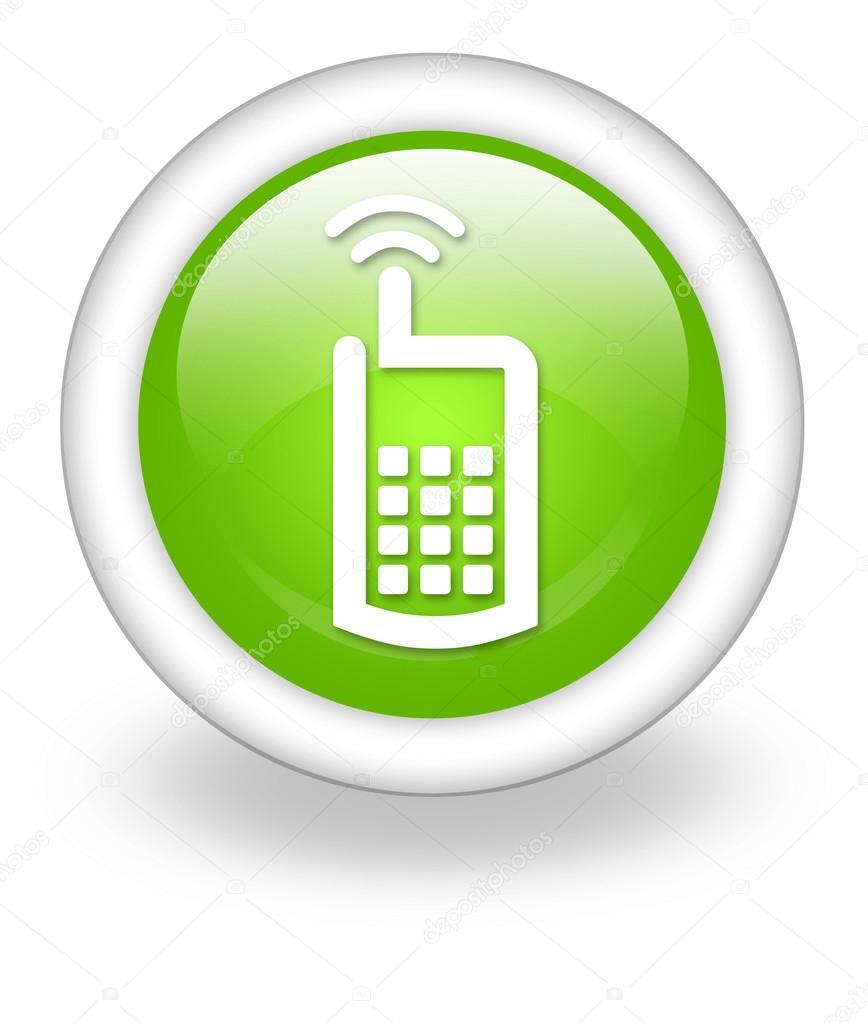 Icono bot n pictograma del tel fono celular fotos de for Icono boton