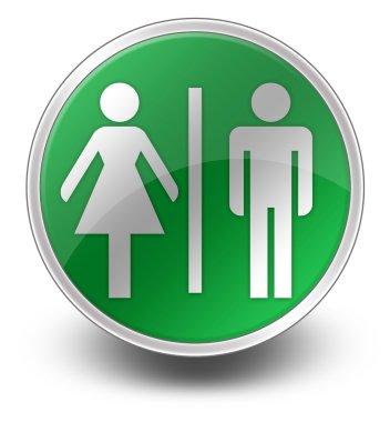 Icon, Button, Pictogram Restrooms