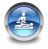 Fotografia icona, pulsante, terapia fisica pittogramma
