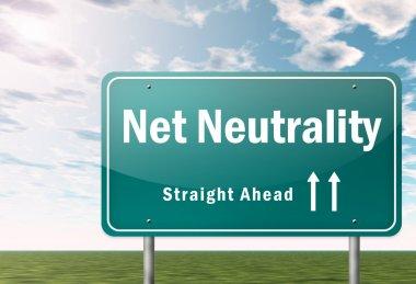 Highway Signpost Net Neutrality