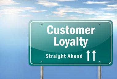 Highway Signpost Customer Loyalty