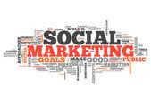 Fotografie Word Cloud Social Marketing