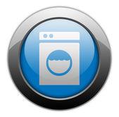Fotografia 图标、 按钮、 象形图的自助洗衣店