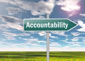 Fotografie Signpost Accountability