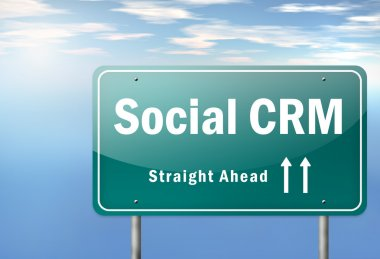 Highway Signpost Social CRM