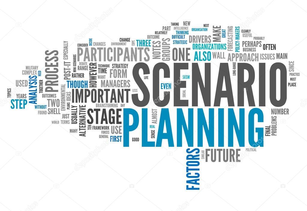 word cloud scenario planning  u2014 stock photo  u00a9 mindscanner  48571023