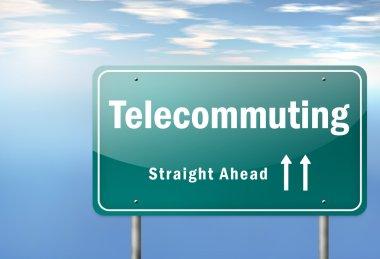 Highway Signpost Telecommuting