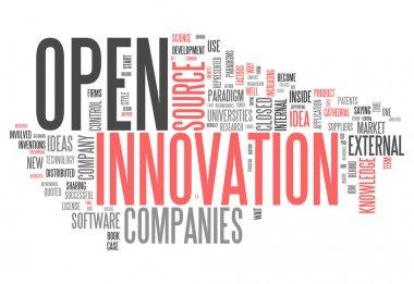 "Картина, постер, плакат, фотообои ""слово облако открытых инноваций"", артикул 50899703"
