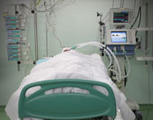 Fotografie bed ICU with the patient