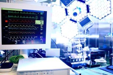 Cardiac monitor in operating theater