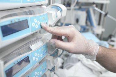 Using equipment in hospital