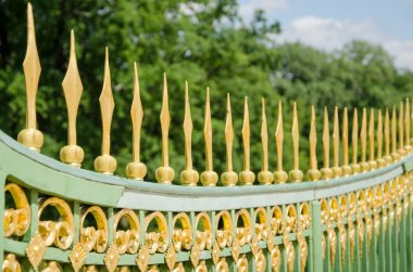 A metal fence of the 18th century in Potsdam, Brandenburg, Germa
