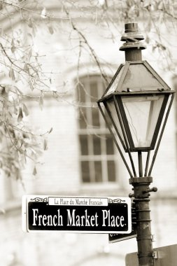 French Marketplace sign