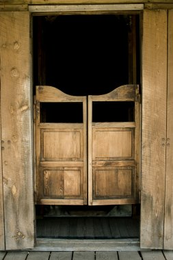 Authentic saloon doors in western town