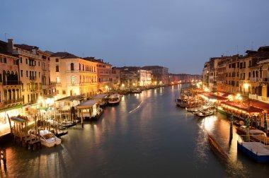 Venetian Grand Canal from Rialto bridge