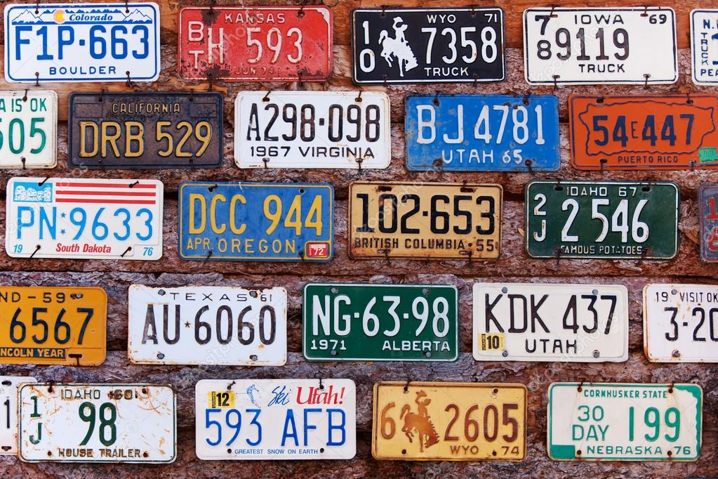 Various old American license plates – Stock Editorial Photo © Mliss ...