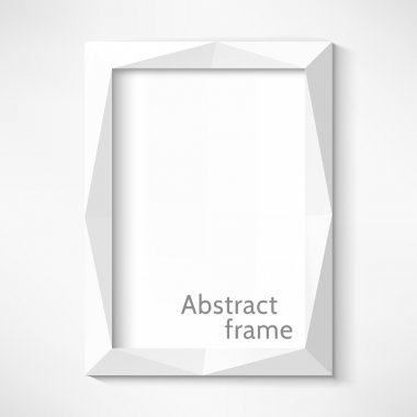White abstract frame. Vector illustration