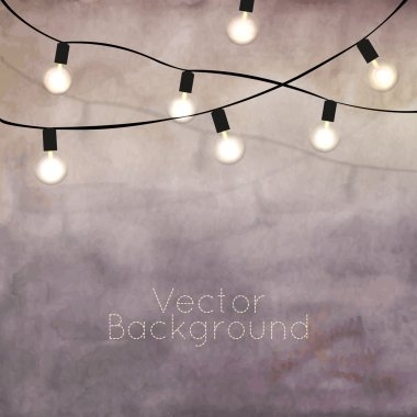 Background with bulbs