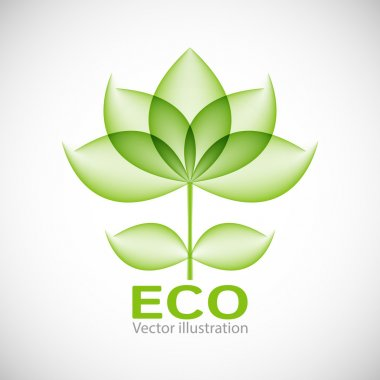 Eco label. Vector illustration