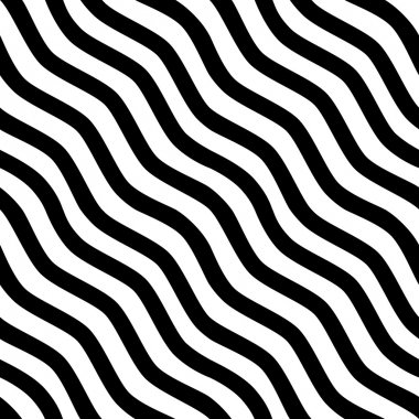 Seamless black-and-white striped background. Vector illustration