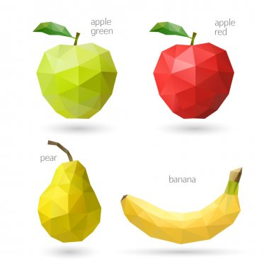 Polygonal fruit. Vector illustration