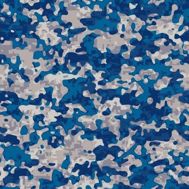 Seamless modern navy camouflage pattern stock vector