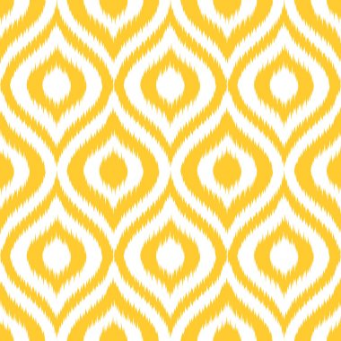 Ikat Seamless Ogee Background