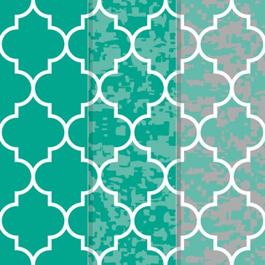 Set of 3 Seamless Moroccan Lattice  Pattern