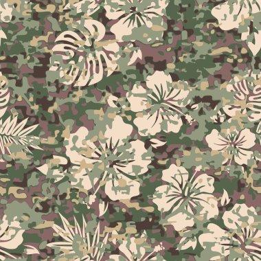 Aloha Hawaiian Shirt Camouflage  Pattern