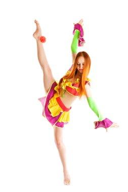 girl as a clown