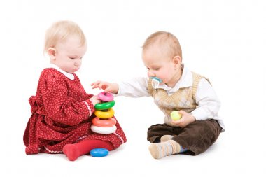 two children play together