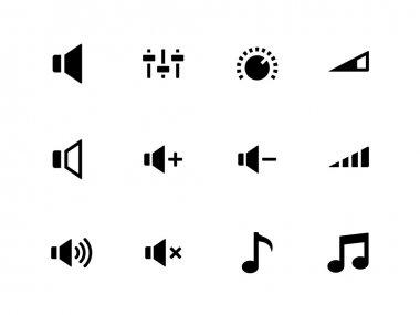 Speaker icons on white background. Volume control.