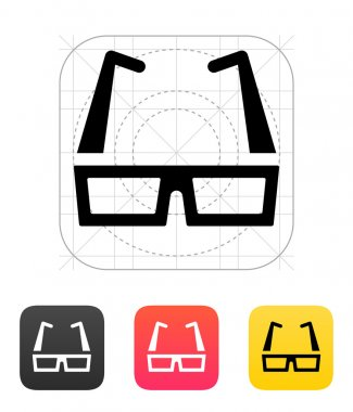 Modern glasses icon. Vector illustration.