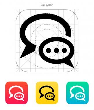 Dialogue bubble icon. Vector illustration.