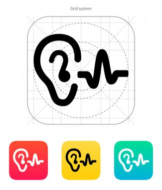Ear hearing sound icon.
