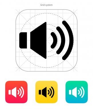 Speaker icon. Volume max.