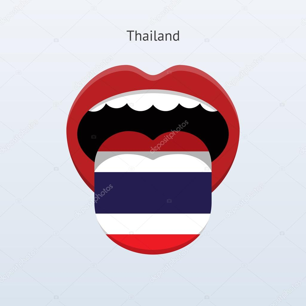Thailand language. Abstract human tongue.