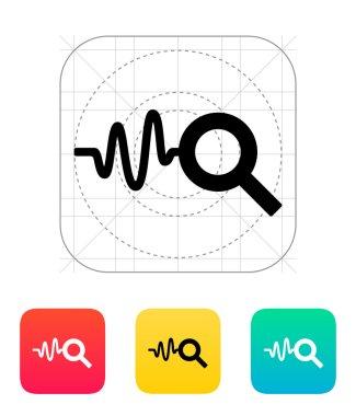 Cardiogram monitoring icon.