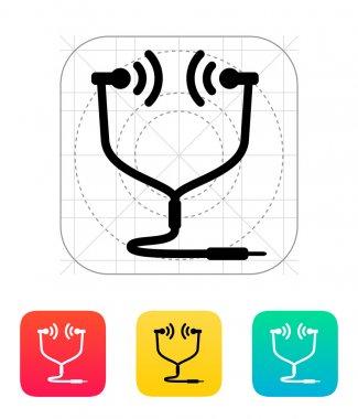 In-ear monitor icon. Vector illustration. stock vector