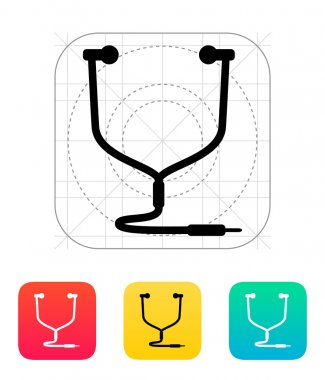 Earphones icon. Vector illustration. stock vector