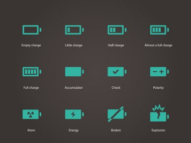 Battery icons.