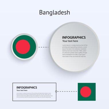 Bangladesh Country Set of Banners.