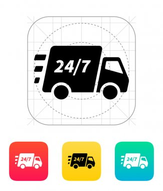 Delivery support seven days a week icon.