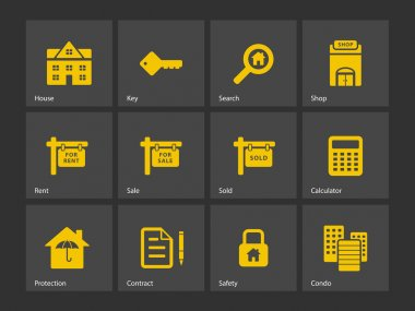 Real Estate icons. Vector illustration. stock vector