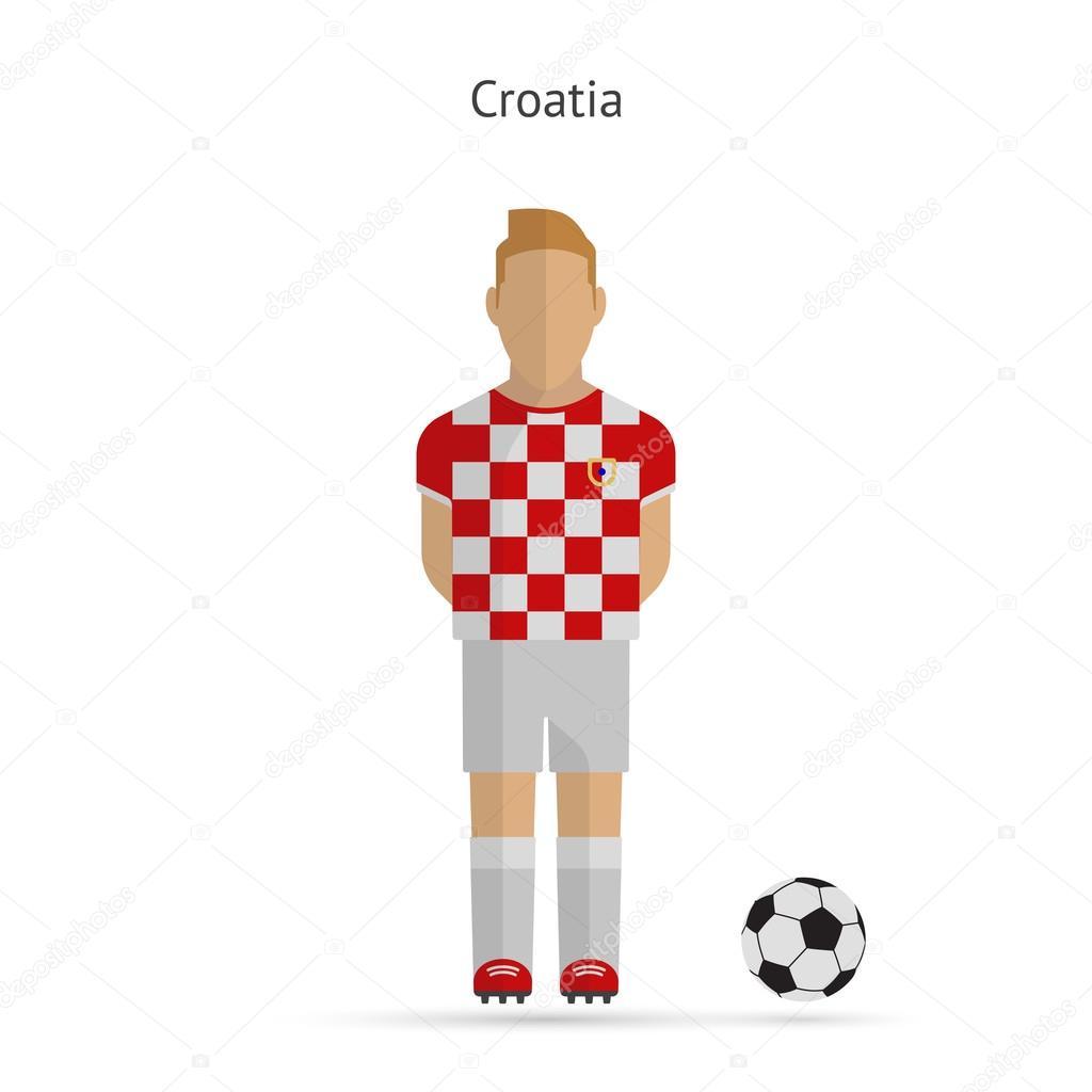 National football player. Croatia soccer team uniform. Vector illustration.  — Vector by tkacchuk 947da0de4